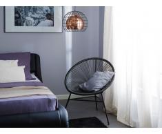 Conjunto de 2 sillas de jardín negro ACAPULCO