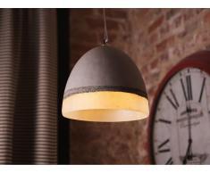 Lámpara de techo - Iluminación colgante - Concreto - Gris y blanco - CAHABA