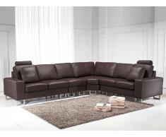 Sofá esquinero marrón - sofá de piel - STOCKHOLM