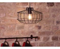 Lámpara de techo - Iluminación colgante - Metal - Negro - WABASH