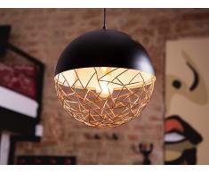 Lámpara de techo en metal negro PADMA
