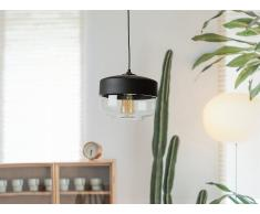Lámpara colgante negra y cristal transparente MURRAY