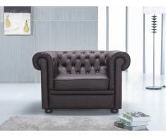 Butaca marrón - sillón de piel - CHESTERFIELD
