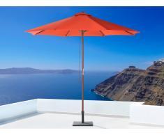 Sombrilla de jardín - Color rojo - Madera ø 270 - TOSCANA II