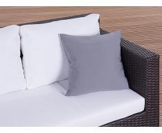 Cojín de jardín - Almohadón para mobiliario de exterior - 40x40 cm gris