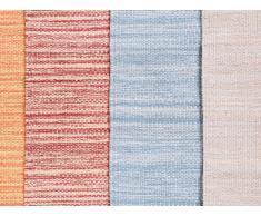 Alfombra de algodón - Beige - 80x150 cm - Hecha a mano - DERINCE