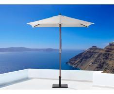 Sombrilla de jardín - Color beige - Madera - 144x195 cm - FLAMENCO