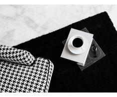 Alfombra shaggy en color negro 80x150 cm DEMRE
