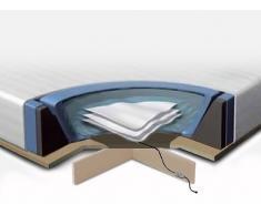 Accesorios para cama de agua - 160x200 cm - Colchón - 2 sistemas de calefacción - Funda - Bastidor de espuma - Platafor