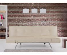 Sofá cama beis - canapé - sofá de piel - BRISTOL