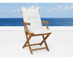 Cojín para silla de jardín - Perfecto para la silla JAVA - Color beis