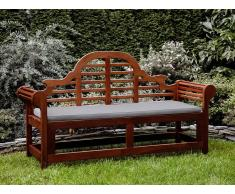 Banco de jardín con colchón gris beige 180 cm TOSCANA MARLBORO