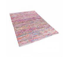 Alfombra de algodón - multicolor - 140x200 cm - Hecha a mano - BELEN