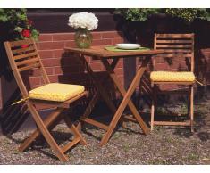 Cojín para silla de jardín FIJI -29x38x5 cm - Amarillo geométrico