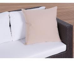 Cojín de jardín - Almohadón para mobiliario de exterior - 50x50 cm caramelo
