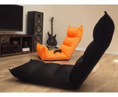 Puf silla - Cojín para sentarse - Naranja fluorescente - BALKA