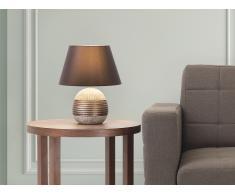 Lámpara de mesa - Pie de cerámica - Color marrón - SADO