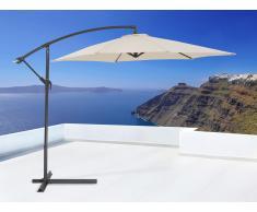 Sombrilla de jardín - Color beis - Poste de acero - Resistente a los rayos UV