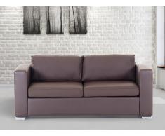 Sofá marrón - sofá de piel - 3 plazas - HELSINKI