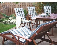 Cojín para silla de jardín TOSCANA rayas azul beige