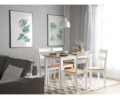 Mesa de comedor de madera blanco-marrón 114x68 cm GEORGIA