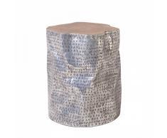 Mesa auxiliar - Diseño cilíndrico en madera - GORDON