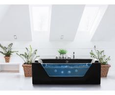 Bañera de hidromasaje - SPA - Bañera rectangular - Negro - SAMANA