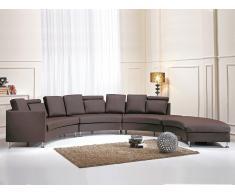 Sofá redondo marrón - sofá de piel - sofá 7 plazas - ROTUNDE