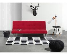 Sofá cama - Sofá Multifuncion - Tapizado - Rojo - HASLE