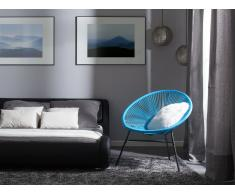 Conjunto de 2 sillas de jardín azul ACAPULCO