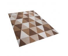 Alfombra rectangular beige 160x230 cm XANTI