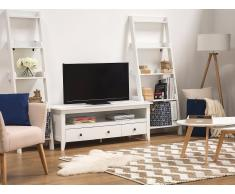Mueble TV, blanco, 3 cajones, BERKLEY