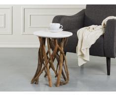 Mesa auxiliar - Diseño de rama de árbol - Blanco - HOUMA