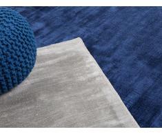 Alfombra de Viscosa - 80x150 cm - azúl oscuro - GESI