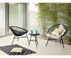 Conjunto de jardín - Mesa - 2 Sillas - Negro - ACAPULCO
