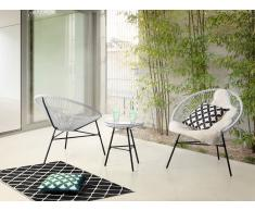 Conjunto de jardín - Mesa - 2 sillas - Blanco - ACAPULCO