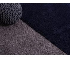 Alfombra shaggy - gris - 80x150 cm - poliester - EDIRNE