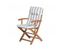 Cojín para silla JAVA/MAUI rayas beige-verde