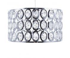 Lámpara colgante de vidrio/cromo TENNA S