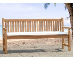 Colchón para banco de jardín - Cojín para mobiliario de exterior - 160 cm - Beis