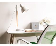 Lámpara de mesa - Lámpara de oficina - Madera - Blanco - ALDAN