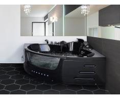 Bañera de hidromasaje - Spa - Iluminación LED - Negro - MARTINICA