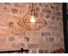 Lámpara de techo - Iluminación colgante - Metal - Color cobre - GUAM