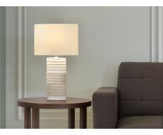 Lámpara de mesa - Pie de cerámica - Color beis - NAVIA