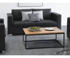 Sofá negro - sofá de piel - sofá de 2 personas - HELSINKI