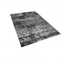 Alfombra rectangular negro-blanco 140x200 cm DAFNI