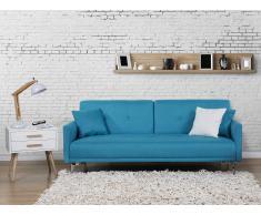 Sofá cama azul oceano - canapé - sofá tapizado - LUCAN