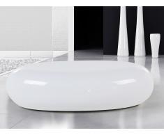 Mesa de centro - Fibra de vidrio - Auxiliar - Blanca - PELION