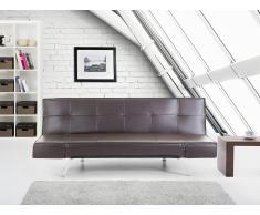 Sofá cama marrón - canapé - sofá de piel - BRISTOL