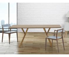 Mesa de comedor - Color madera de pino - 180 cm - LISALA